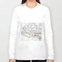 jamaica Long Sleeve T-shirts featuring Map Section: Jamaica by Shaunia McKenzie