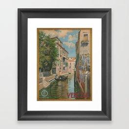 Vintage poster - Venice Framed Art Print