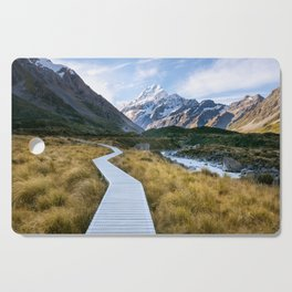 Mt.Cook New Zealand - A hikers dream Cutting Board