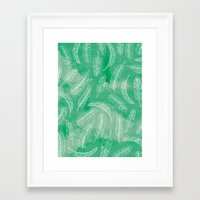 banana leaf Framed Art Prints featuring Banana Leaf by Make-Ready