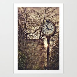 Passing of time. Walking in the streets of Edinburgh, Scotland. Vintage Photography. Art Print