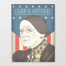 Susan B. Anthony Portrait Canvas Print