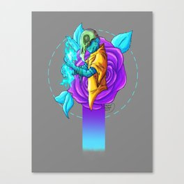 Rose Skull Canvas Print