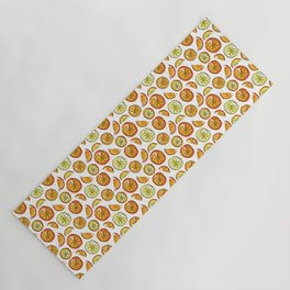 Illustrated Oranges and Limes Yoga Mat