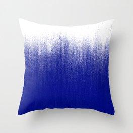 Ink Blue Ombré Throw Pillow