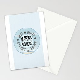 Smelly Wet Dirty Happy Marine Biologist Stationery Cards