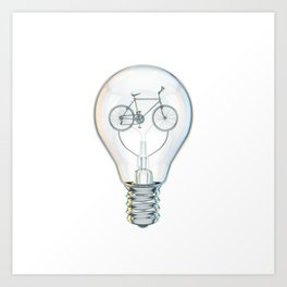 Light Bicycle Bulb Art Print