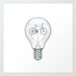 Light Bicycle Bulb Art Print