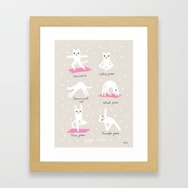 Yoga Cats Framed Art Print