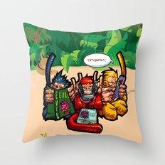 The Three Wise Monkeys Throw Pillow
