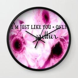 Only Prettier Wall Clock