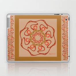 Hope Mandala with Border - Brown Tan Laptop & iPad Skin