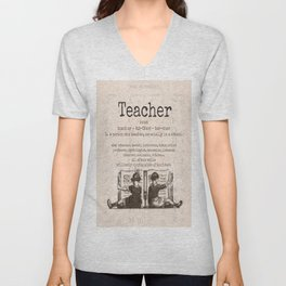 Teacher Unisex V-Neck