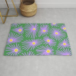New England Asters Rug