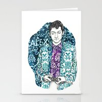 alex turner Stationery Cards featuring Baroque Alex Turner by Anja-Catharina