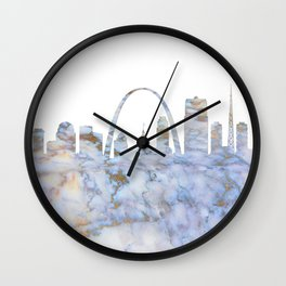 Saint Louis Missouri Skyline Wall Clock
