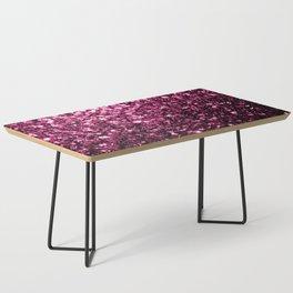 Beautiful Dark Pink glitter sparkles Coffee Table