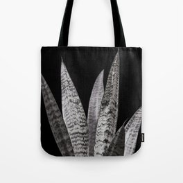 Gray snake plant with black Tote Bag