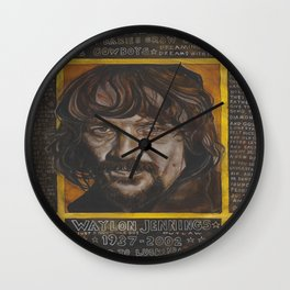 Waylon Jennings Wall Clock