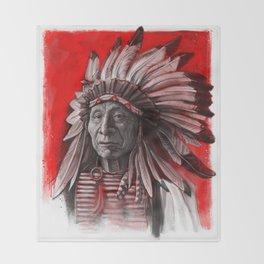 Red Cloud Throw Blanket