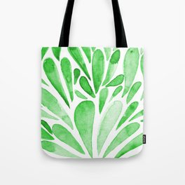 Watercolor artistic drops - green Tote Bag