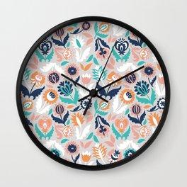 Flower magic Wall Clock