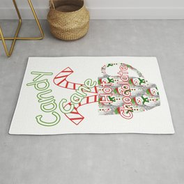 Candy Cane Hot Chocolate Rug