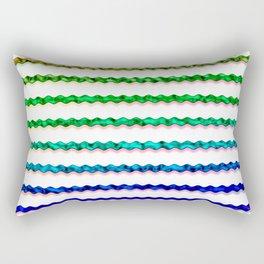 Multicolour Chrome Wiggle Line Pattern Rectangular Pillow