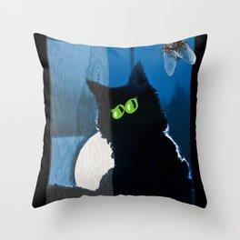 disturbance... Throw Pillow