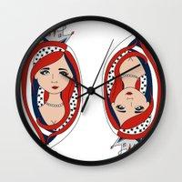 american Wall Clocks featuring American  by Gabriela Borges