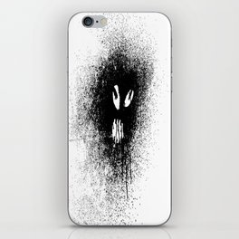 Space face Black&white iPhone Skin