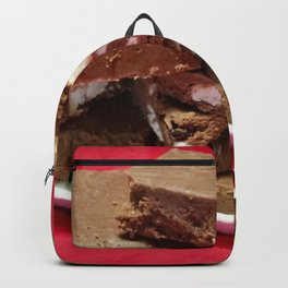 Cherry Chocolate Marshmallow Fudge On A Plate Backpack