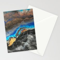 Storm Brewing - Fluid art on canvas Stationery Cards