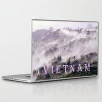 vietnam Laptop & iPad Skins featuring FOGGY MOUNTAIN - VIETNAM - ASIA by CAPTAINSILVA