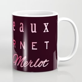Red Wine Types Typography Poster Coffee Mug