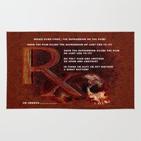 depression Area & Throw Rugs featuring Depression or the Pain - 111 by Lazy Bones Studios