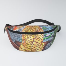 Tiger of the Temple Ruins Fanny Pack