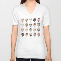 monsters V-neck T-shirts featuring Monsters by CookiesOChocola