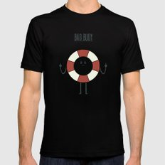 Bad Buoy Mens Fitted Tee LARGE Black