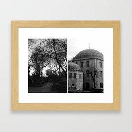 Glimpse of Hagia Sofia Framed Art Print