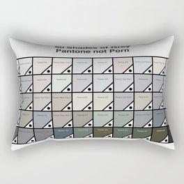 50 Shades Of Grey : Pantone Swatches - Pantone not Porn Rectangular Pillow