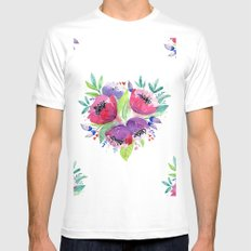 Pattern 02 Mens Fitted Tee MEDIUM White