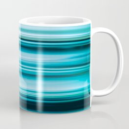 Turquoise Color Abstract Horizontal Lines #decor #society6 #buyart Coffee Mug