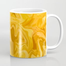 Yellow Marble Effect For Geology Lovers Art Decor  Coffee Mug