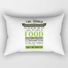 Typographic Posters - Recycle for a better future! Rectangular Pillow