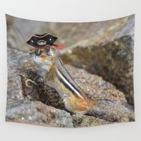 pirate Wall Tapestries featuring Pirate by Robert Raney