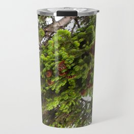 Large spruce fresh shoots Travel Mug