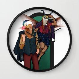 Canards dans la Cour Wall Clock