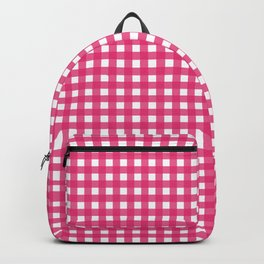 Farmhouse Gingham in Dark Pink Backpack