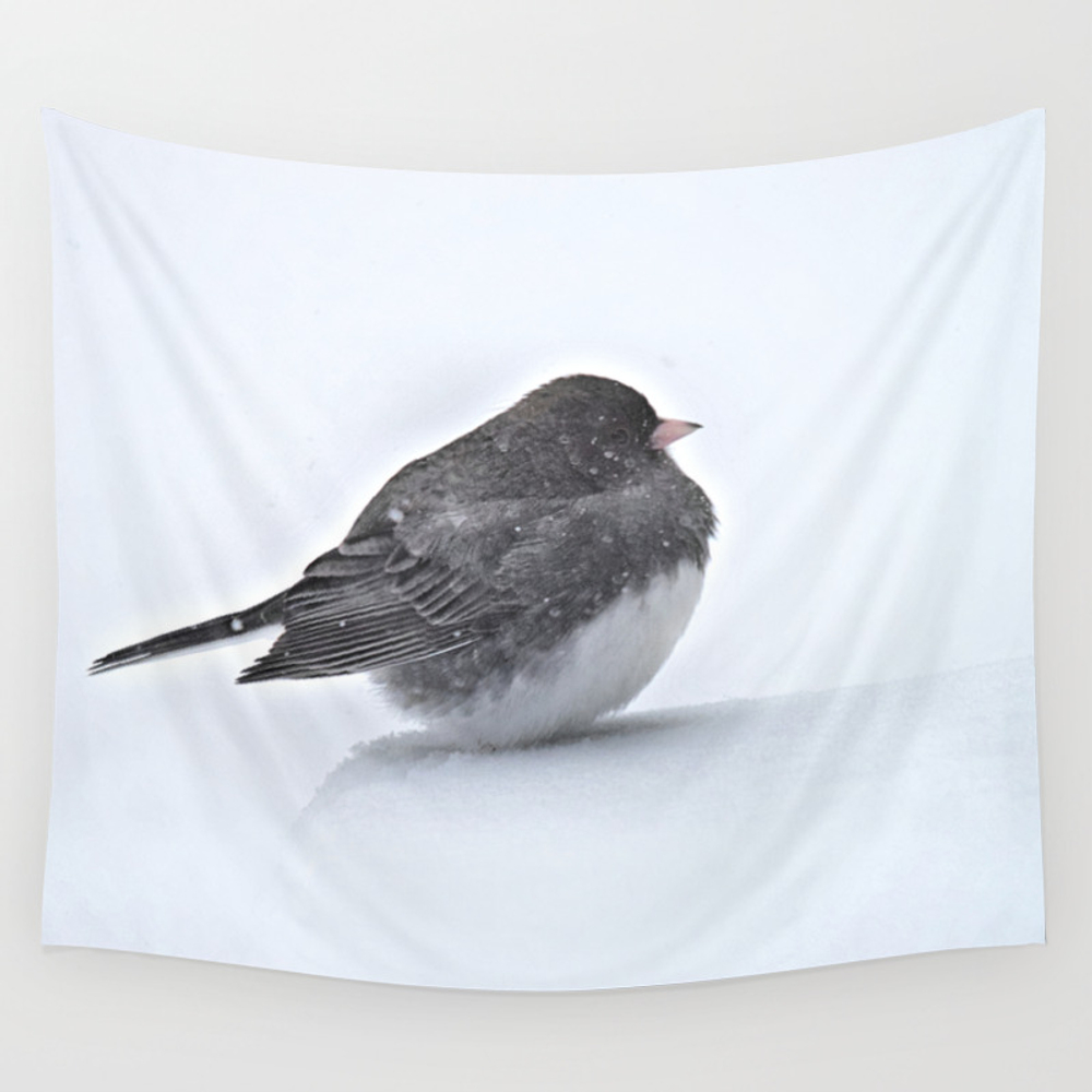 Brave Bird In A Blizzard Wall Tapestry by Nancyacarter TPS6594041